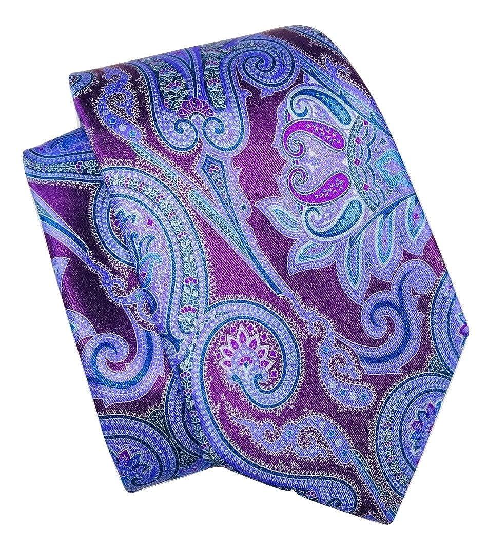 Ermenegildo Zegna Purple Paisley Silk Tie