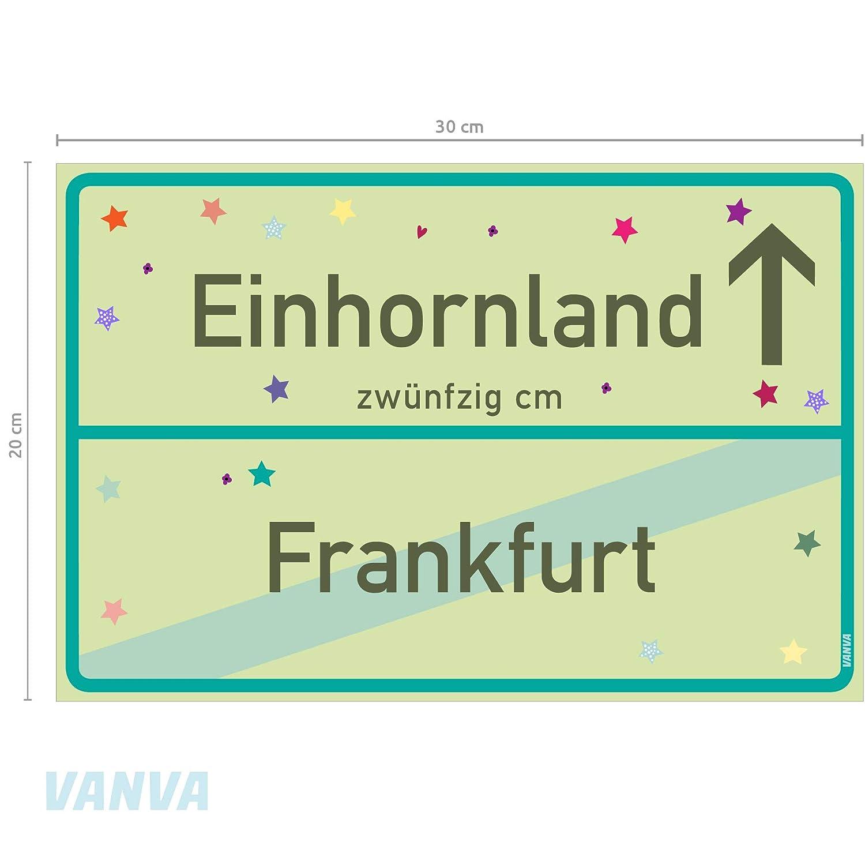 Cartel de Unicornio Frankfurt, Verde Lima, Unicornio, Placa ...