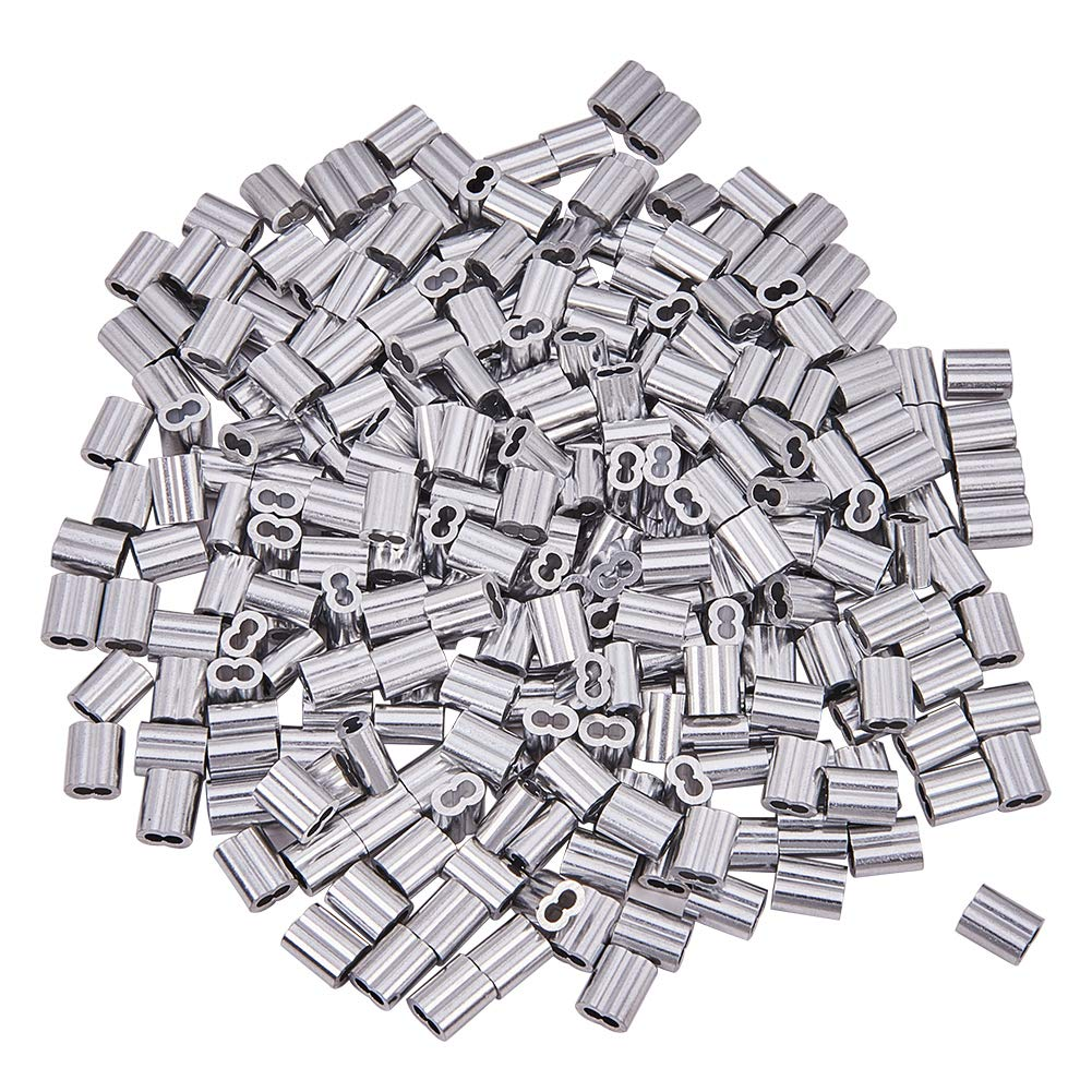 Increway 6misure di alluminio a doppio cilindro ghiera piegatura loop manica assortimento kit per fune metallica e cavo