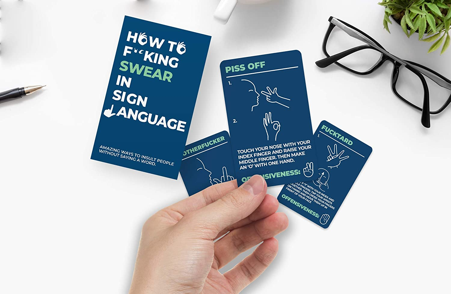 Gift Republic GR490081 How To Swear in Sign Language Cards