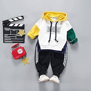 Baby Boy Clothing Set Long Sleeve 2pcs Sport Suit Newborn Cute Infant Outfit New