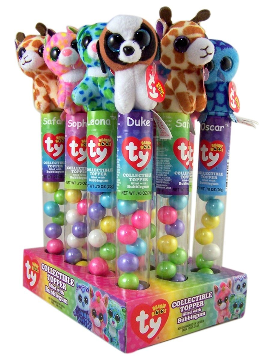 3a55418017e Flix candy beanie boos collectible plush topper tube with bubblegum pack of  grocery gourmet food jpg