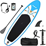 Rumlad Inflatable Stand Up Paddle Board 4 Inches Thick with One-Way Sup Dedicated Pump&Backpack,Adjustable Special Pulp,Simpl
