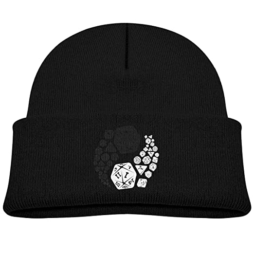 Kids Knitted Beanies Hat Dungeons and Dragons Yin Yang Winter Hat Knitted  Skull Cap for Boys 8bf4f6987a2