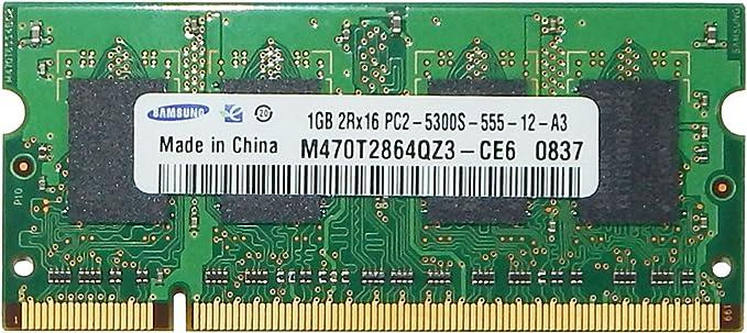 Amazon Com Samsung 1gb Pc2 5300s Ddr2 Sodimm M470t2864qz3 Ce6 Computers Accessories