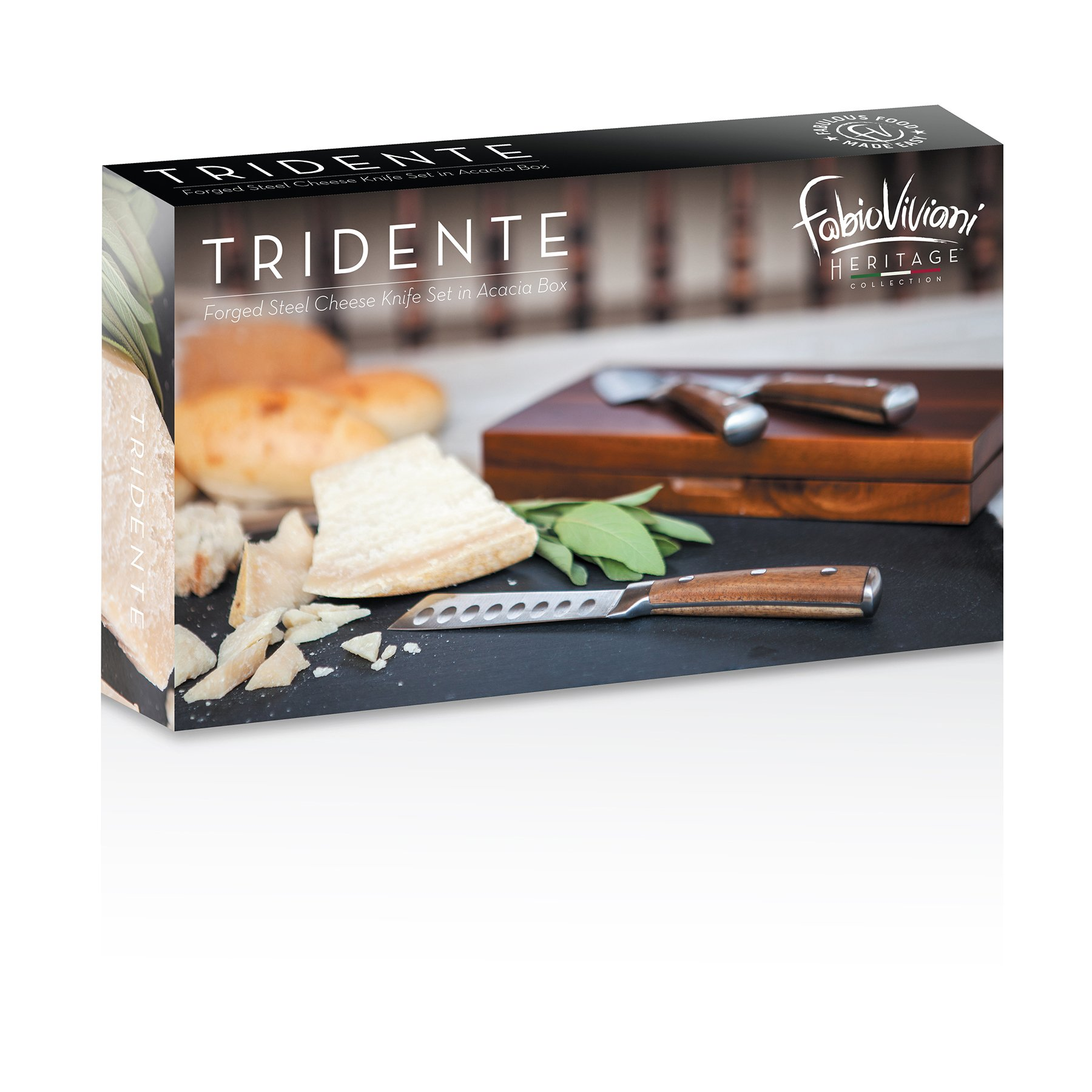 TOSCANA - a Picnic Time Brand Fabio Viviani Tridente Boxed Cheese Knives, Set of 3 by TOSCANA - a Picnic Time brand (Image #4)