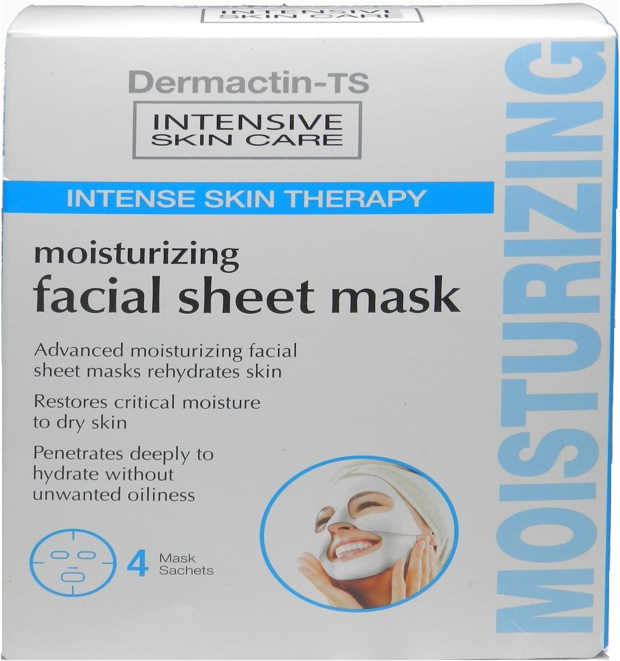 Dermactin-TS intenso piel terapia Hidratante Facial Máscara 6 paquetes (Pack de 3): Amazon.es: Belleza