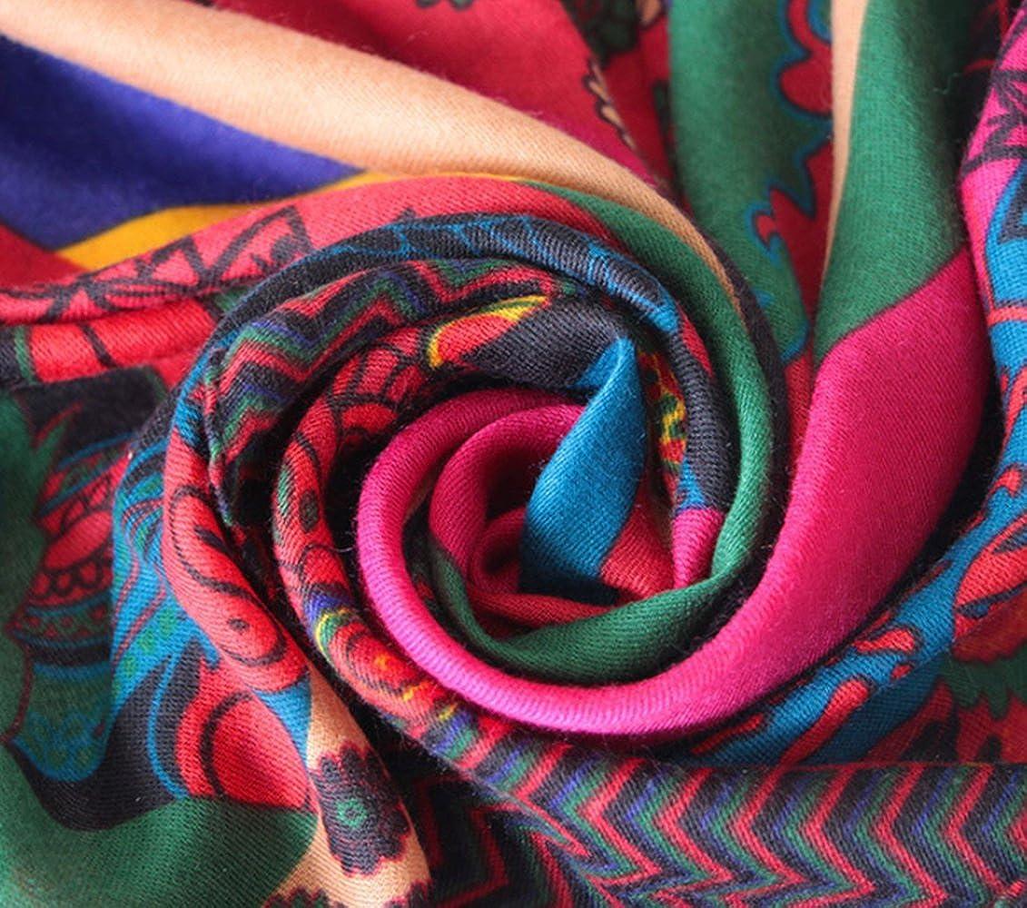 c820c886f1e TOPSTORE01 Écharpe Bohème Quatre Saisons Coton écharpe Colorée Châle  (Color1)  Amazon.fr  Vêtements et accessoires
