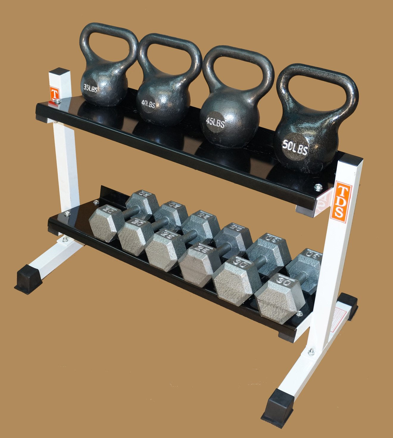 TDS Fitness Kettlebell, Dumbell Combo 36'' Rack. Made in the USA
