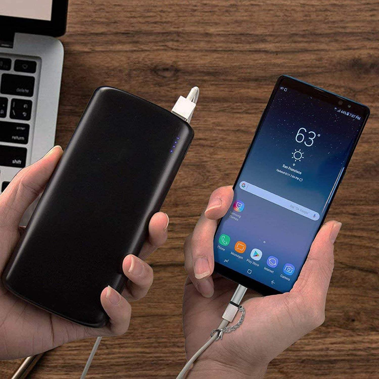 Google Pixel 2 XL and More Uses 56K Resistor 5-Pack MacBook S9+ 8 S9 Yellowknife Micro USB to USB C Adapter Works with Galaxy Note 9 Converts Micro USB Female to USB C Male