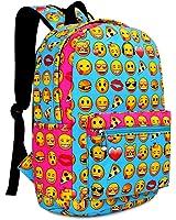 Zicac Children Students Canvas Emoji Backpack Smiling Face Satchel