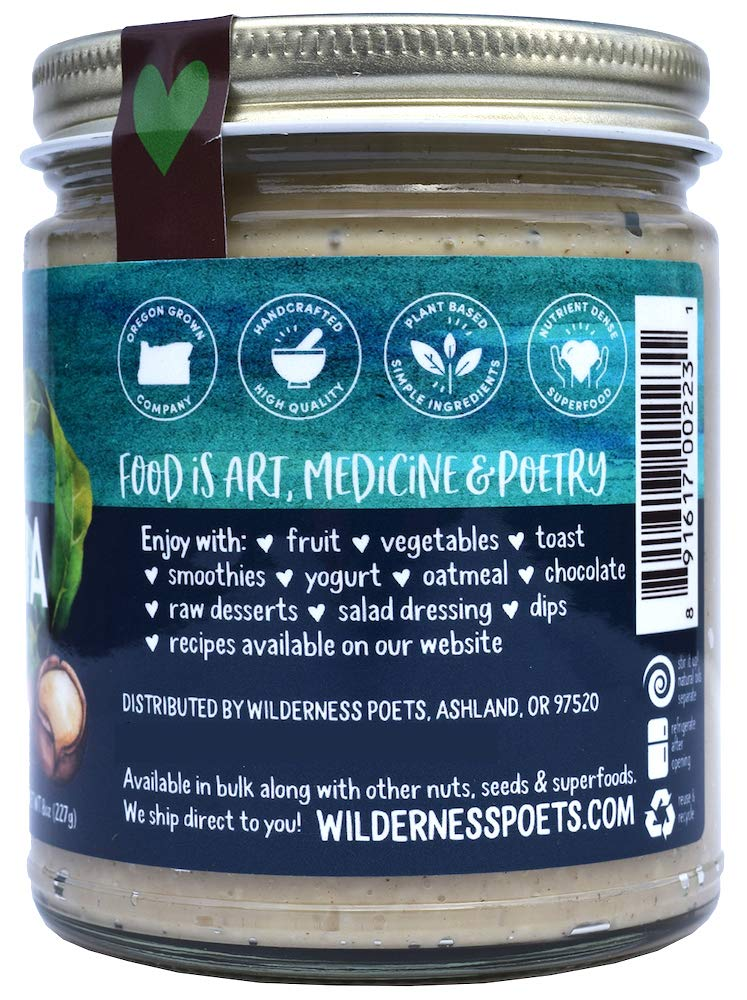 Wilderness Poets, Raw Macadamia Butter, 8 Ounce by Wilderness Poets (Image #3)