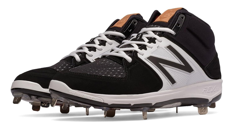 (ニューバランス) New Balance 靴シューズ メンズ野球 Mid-Cut 3000v3 Metal Cleat Black with White ブラック ホワイト US 8.5 (26.5cm) B01J5BQVLQ