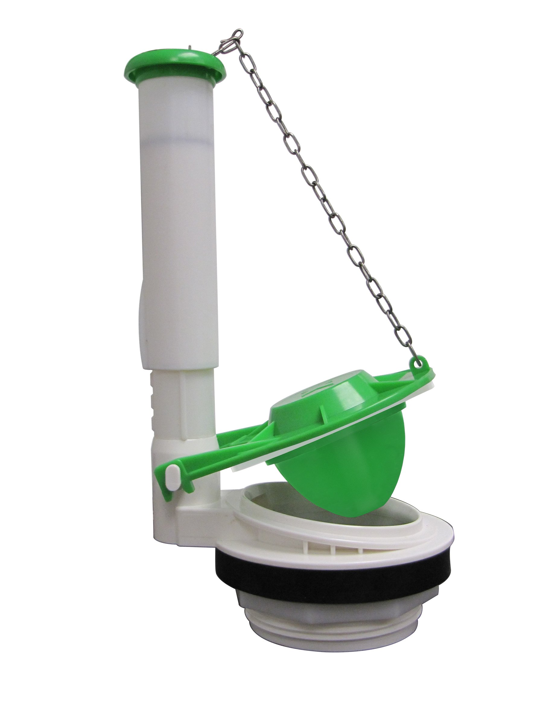 Keeney K835-12 3-Inch Toilet Flush Valve Fits Toto, Gerber, Mansfield, Crane, Jacuzzi or Any Flush Valve with Similar Thread Size, White, Green