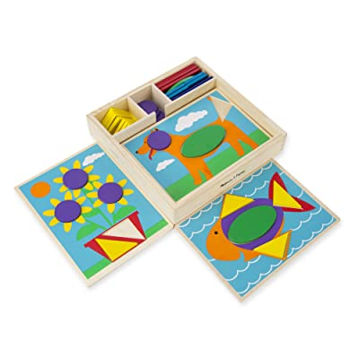 Melissa & Doug Beginner Pattern Blocks: Toys & Games