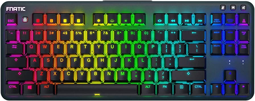 Amazon Com Fnatic Ministreak Led Backlit Rgb Mechanical Gaming Keyboard Cherry Mx Silent Red Switches Small Compact Portable Tenkeyless Layout Pro Esports Gaming Keyboard Us Layout Computers Accessories