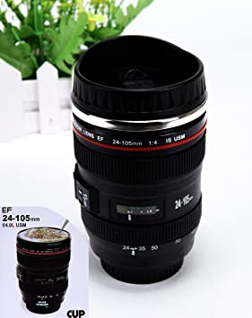 Canon Zoom Lens EF 24-105mm THERMOS Coffee Cup /Camera Lens Mug /Lens