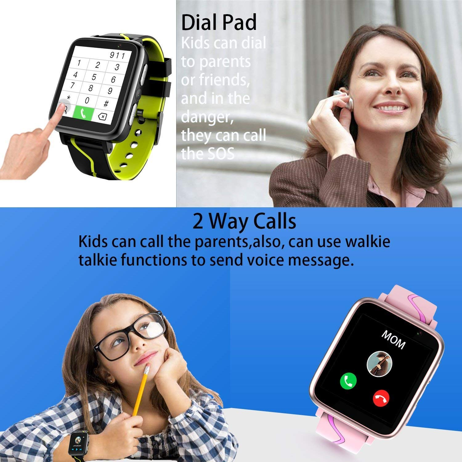Amazon.com: Kids MP3 Players Music Watch - Smart Watch with MP3 Music Player [1GB Micro SD Included] FM Pedometer Fitness Smartwatch Camera FM SOS Alarm ...