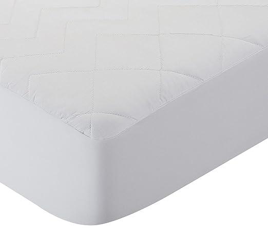 Pikolin Home Protector de colchón acolchado cubre colchón, antialérgico, antiácaros, antibacterias y antimoho, transpirable, 100% algodón, 90 x ...