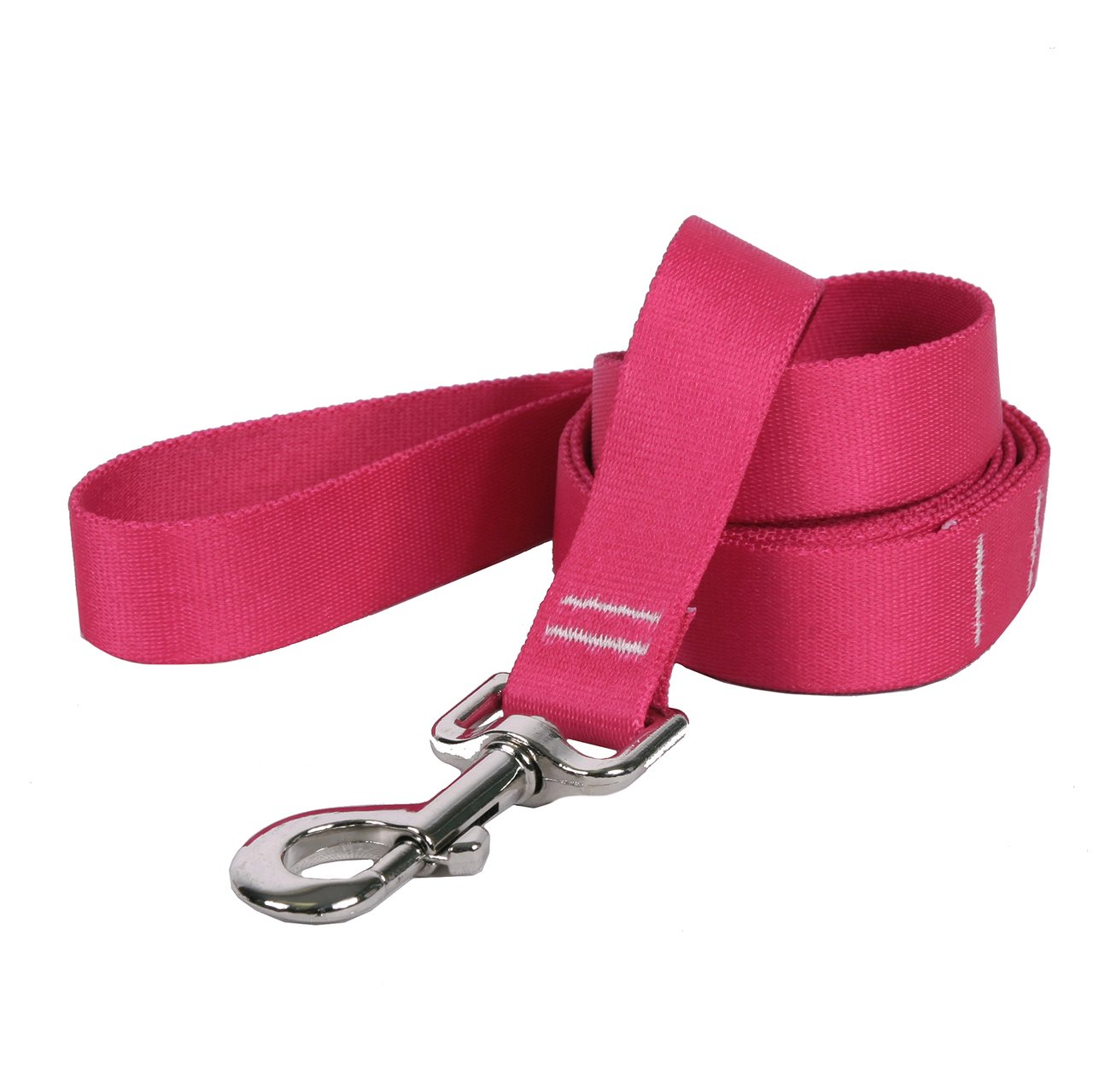 3 4\ Yellow Dog Design Magenta Simple Solid Dog Leash, Small Medium-3 4  Wide and 5' (60 ) long