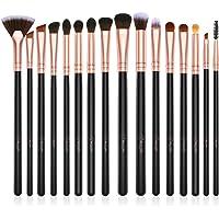 Eye Makeup Brushes Set,BESTOPE 16 Pieces Professional Cosmetics Brush, Eye Shadow, Concealer, Eyebrow, Foundation, Powder Liquid Cream Blending Brushes Set with Premium Wooden Handles (Rose Gold)