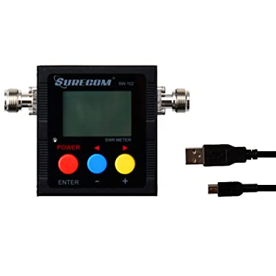 Surecom Gam3Gear SW-102S SO239 Connector Digital VHF UHF 125-525Mhz Power & SWR Meter with Ground Plate: Electronics