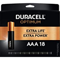Duracell Optimum AAA Batteries | Lasting Power Triple A Battery | Alkaline AAA Battery Ideal for Household and Office Devices | Resealable Package for Storage, 18 Count (Pack of 1)
