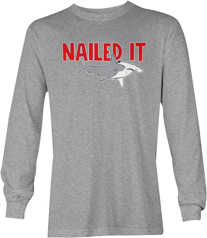Nailed It - Hammerhead Shark Pun Funny Unisex Long Sleeve Shirt