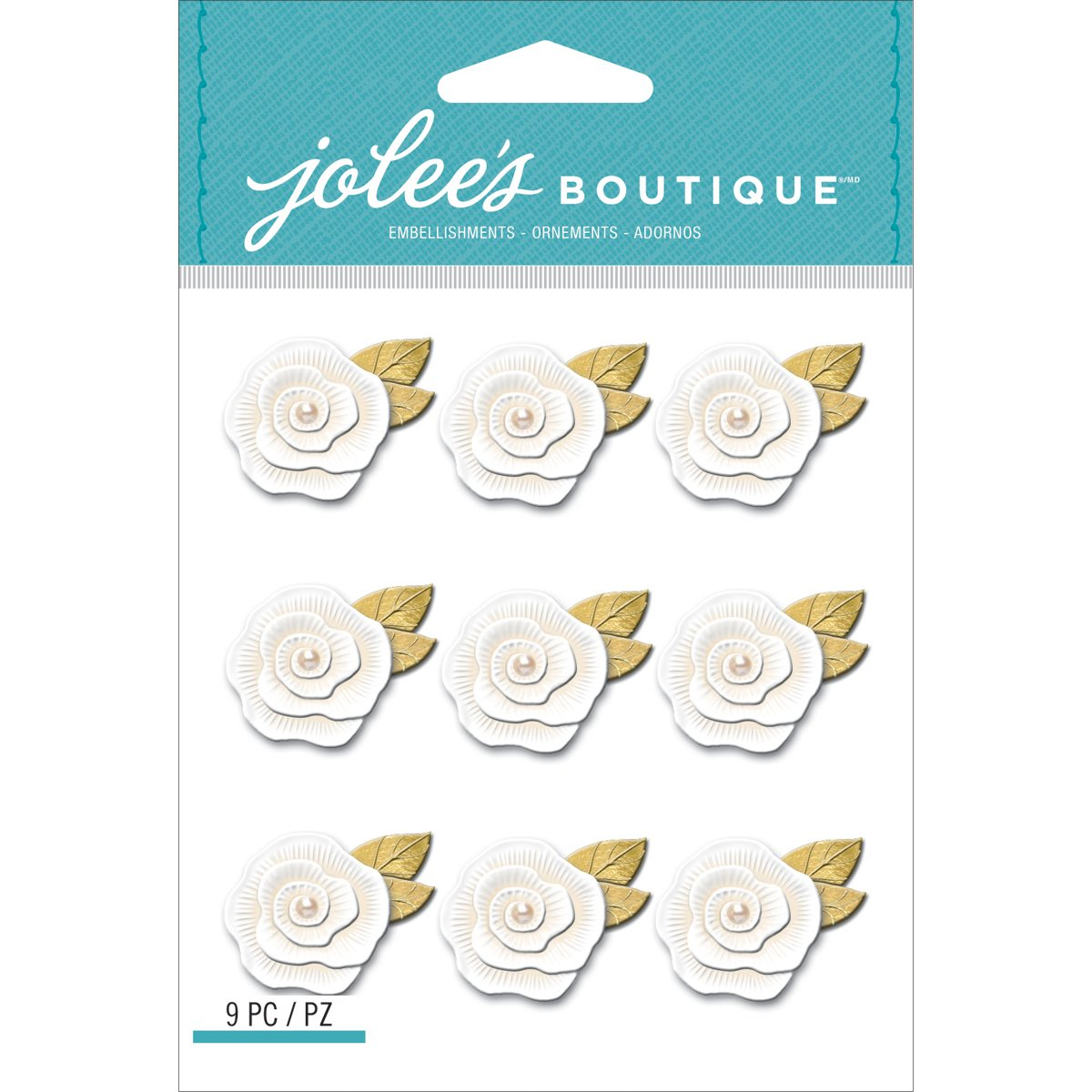 Resin Flower Repeats Jolees Boutique Dimensional Stickers