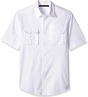 b4480bb33256 Sean John Mens Linen Blend Long Sleeves Button-Down Shirt at Amazon ...