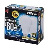 アイリスオーヤマ LED電球 口金直径26mm 60W形相当 昼白色 広配光タイプ 2個パック 密閉形器具対応 LDA7N-G-6T22P