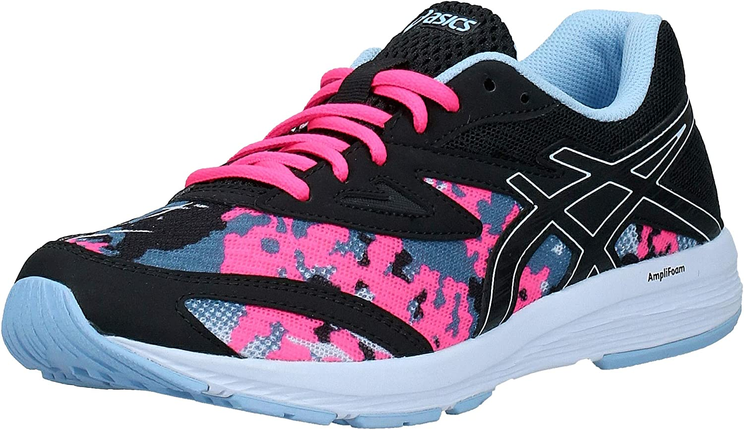 Conjugate Get injured Bend  ASICS Amplica GS SP Junior Running Shoe - J5.5 Black: Amazon.co.uk: Shoes &  Bags