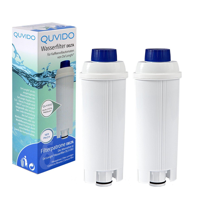QUVIDO 2 x Filtro de agua Delta para Delonghi cafetera ...
