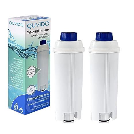 QUVIDO 2 x Filtro de agua Delta para Delonghi cafetera eléctrica