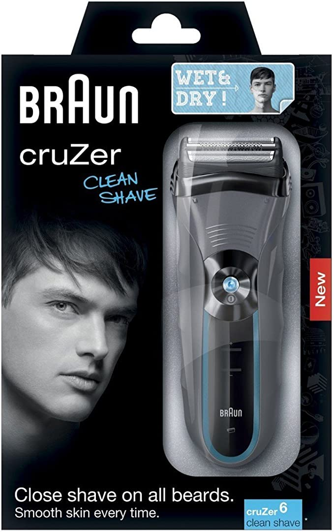 Braun Cruzer 6 - Afeitadora (Negro, Gris, Batería, 0.5h): Amazon ...