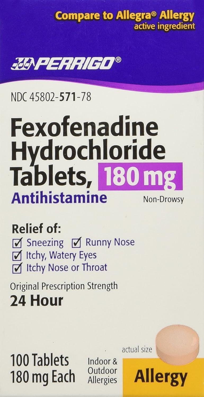 Fexofenadine hcl 180 mg 24 hour.doc - Amazon Com Fexofenadine Hcl 180mg 100ct Compare To Allegra Health Personal Care