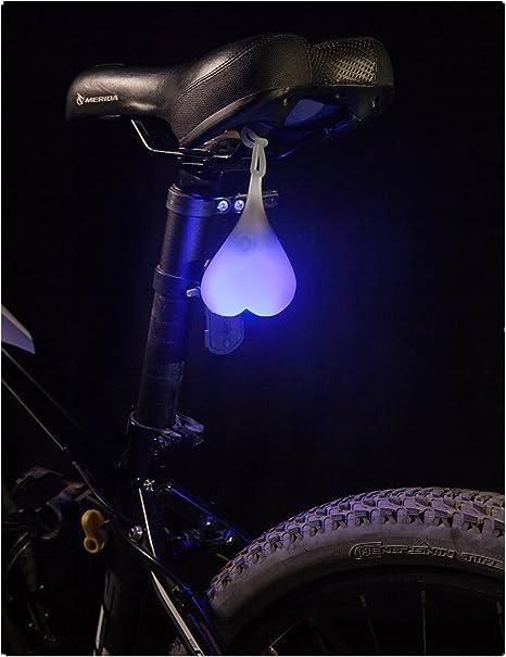 Silicona bicicleta luz impermeable ciclismo advertencia luz de ...