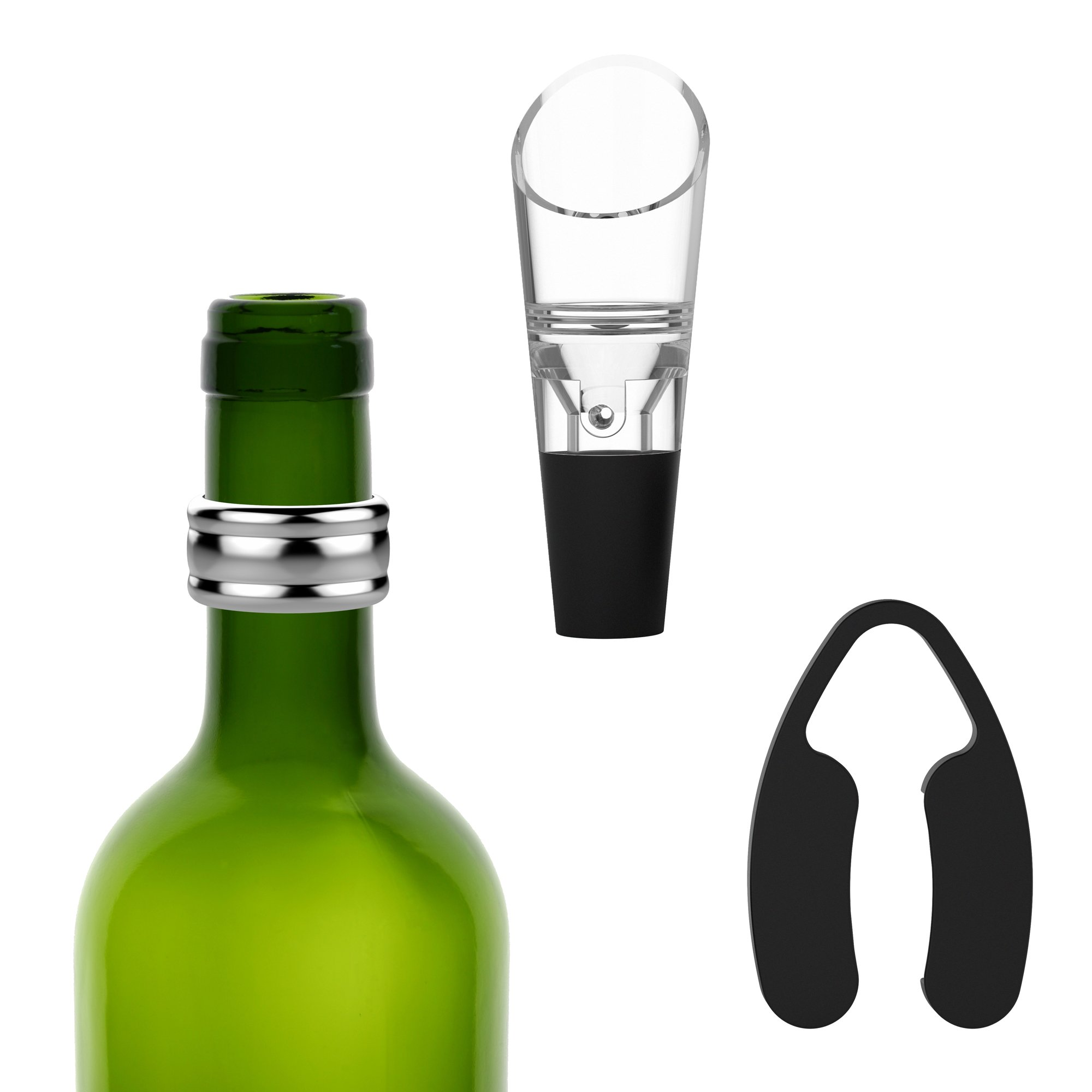 Vremi 9 Piece Wine Gift Set - Wine Gifts and Accessories with Electric Wine Opener and Wine Saver Preserver with 4 Wine Bottle Stoppers - Fun Cool Wine Gifts for Women or Men - Unique Wine Gift Box by Vremi (Image #4)