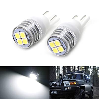 iJDMTOY (2) JDM Xenon White 4-SMD High Power LED Side Mirror Replacement Bulbs Compatible With 2007-2014 Toyota FJ Cruiser: Automotive