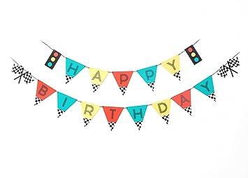 amazon com vintage race car birthday banner happy birthday