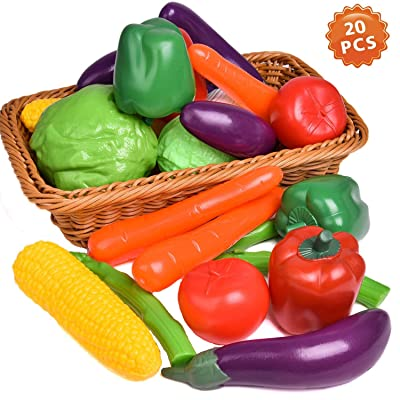 Liberty Imports Life Sized Bag of Vegetables Play Food Playset for Kids - Great with Fruits Set!: Toys & Games