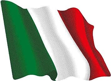 Artimagen Bandiera adesiva sventolante Italia 60x50 mm RESINA