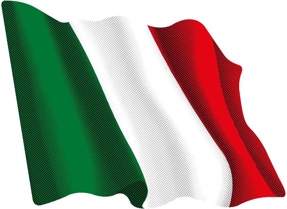 Artimagen Pegatina Bandera Ondeante Italia 80x60 mm.