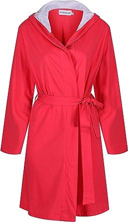 Wanmar Femme Coton Peignoir Robes de Chambre et Kimonos