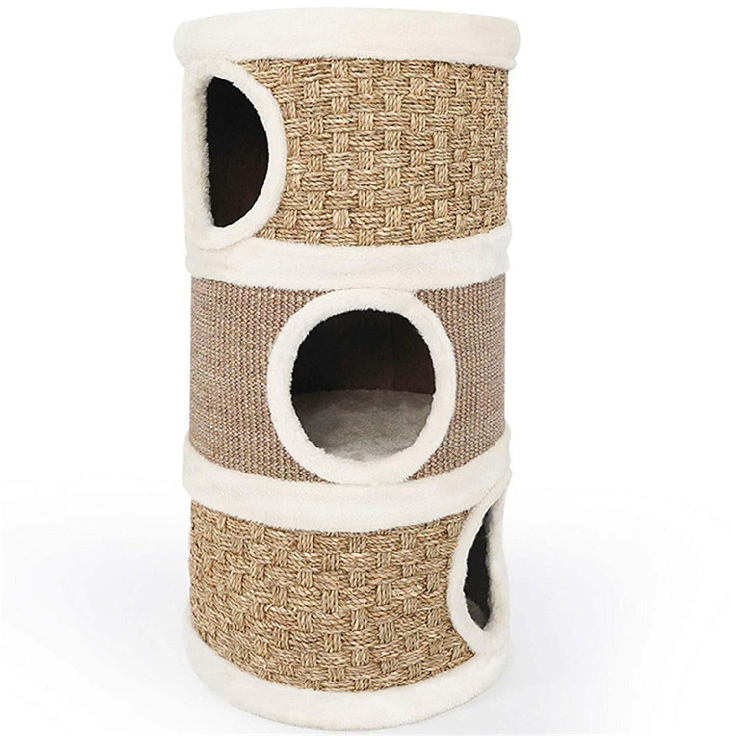 Cat Tree, Cat Litter, Cat Entertainment Center Pet Furniture Three-Story House Multi-Function Grinding Paw