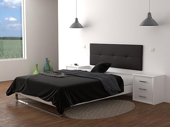 LA WEB DEL COLCHON Cabecero de cama tapizado acolchado Julie 160 x 55 cms. Para camas de 135, 140, 150 y 160 cms. Polipiel color Marrón Chocolate.