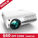 YABER Native 1080P Projector 6800 Lux Upgrade Full HD Video Projector 1920 x 1080