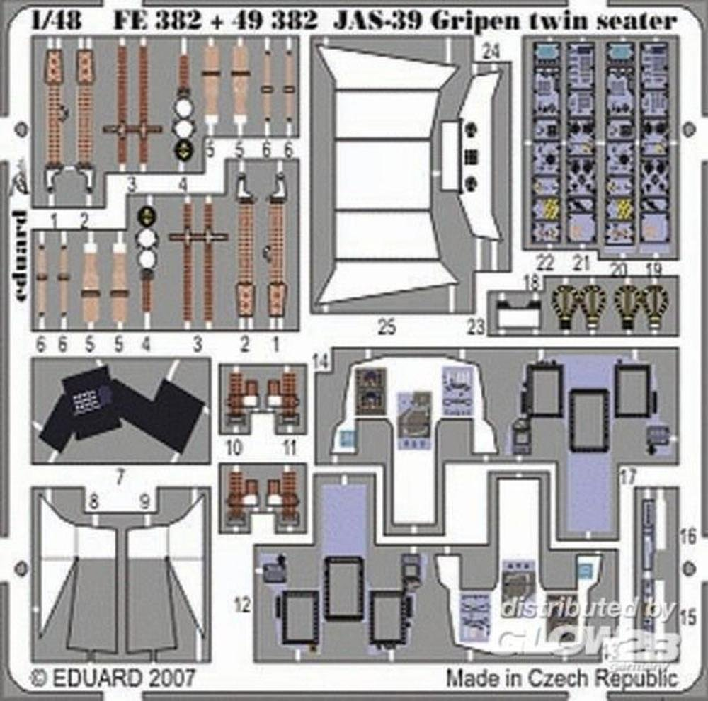 Fulmar Mk I Interior for Mpm ( Painted自己粘着) 1 / 48 Eduard   B009YKCNCK