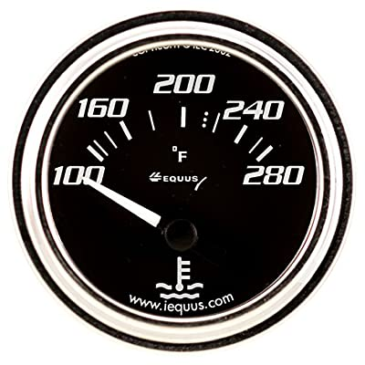 "Equus 7262 2"" Electric Water Temperature Gauge, Chrome with Black Dial: Automotive"
