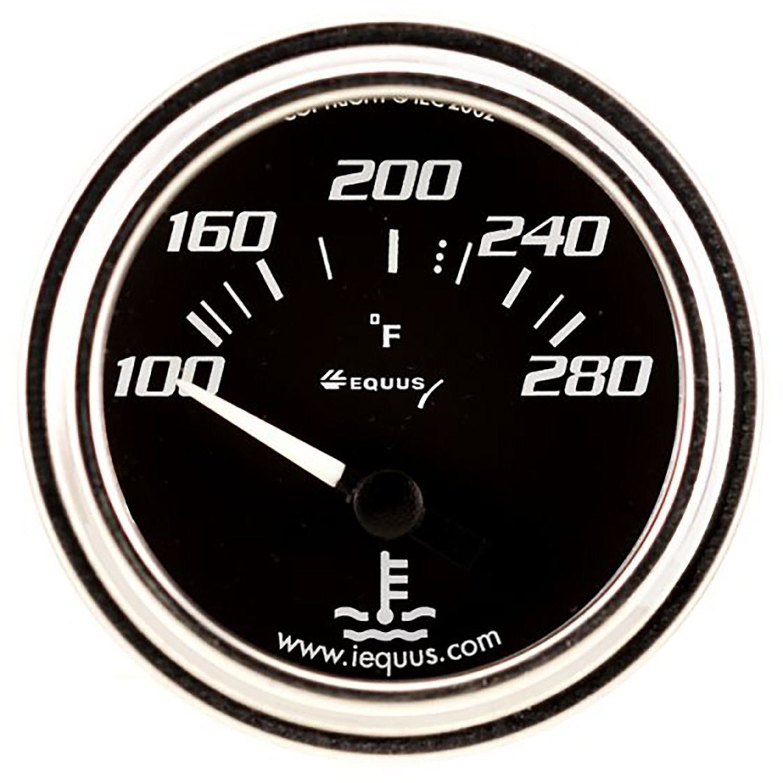 Equus 7262 2 Electric Water Temperature Gauge, Chrome with Black Dial INNOVA